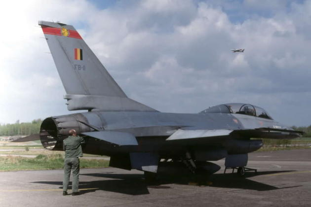 Belgian F-16B FB-11, which I flew on 15 Oct 1981.