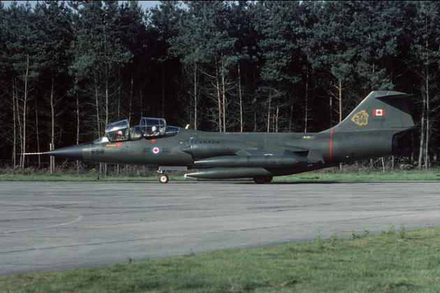 A great photo of 104658 in Canadian Forces markings taken at Soesterberg AB, NL in July 1980, just before I flew her in August with the 441 Squadron. Photo by Henk Schuitemaker.