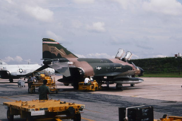 My 'first fighter'. F-4D 66-7693 from the Armament Development Test Center (ADTC) at Eglin AFB, FL in 1975. Great flight!