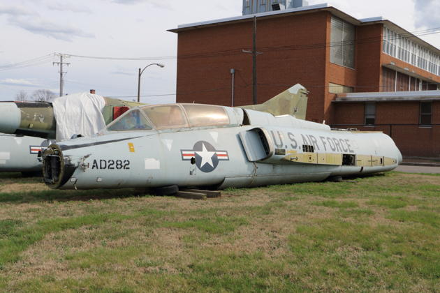 The fuselage of F-106B 57-2545 at Bissel Auto in St. Louis.