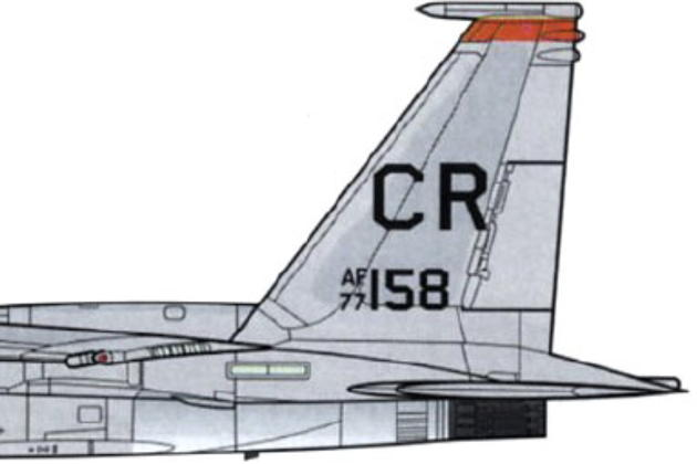 F-15B 77-0158 as I flew her on 9 May 1980. Drawing by Iain Ogilvie.