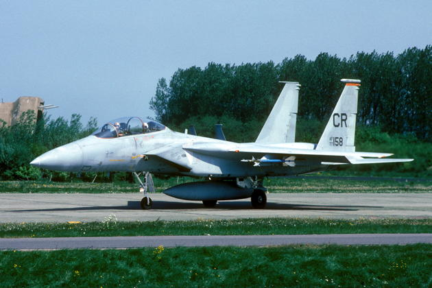 77-0158 with Soesterberg CR tail markings as flown in the early 1980s. Photo courtesy Joop de Groot.