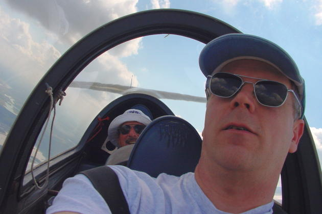 Climbing to cloudbase with Ron Dianton in Seminole Lake gliderport's Grob 103.