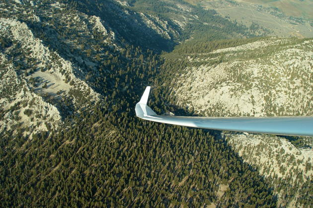 Thermaling above the Sierras east of Lake Tahoe.