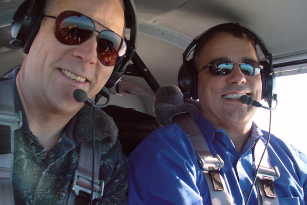 Aloft with Jim Cummiskey in his Swift over Long Beach.