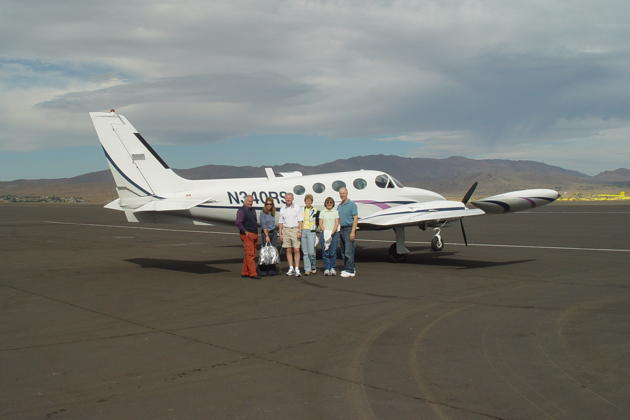 The Cessna 340 team at Reno Stead - Michael, Diana, Doug, Ann, Ma and me.