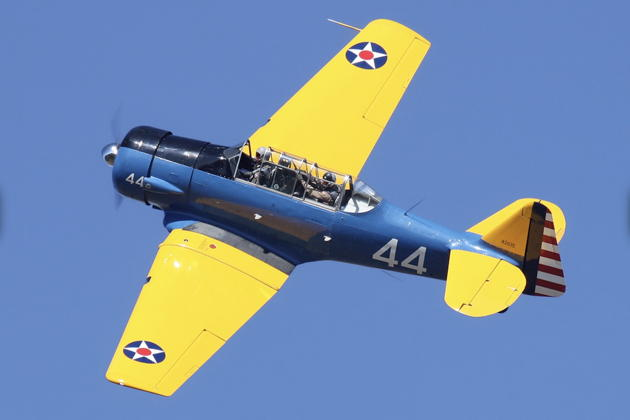 Alan Anders T-6 when I wasn't in the backseat! Photo by Dave Lednicer.