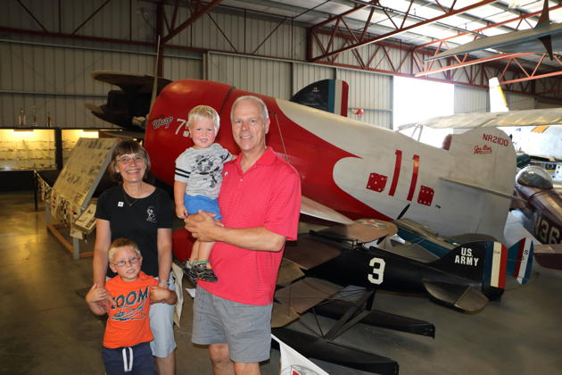 Touring the Chino 'Planes of Fame' Air Museum with Alex and Nathaniel on Nathaniels' 2nd birthday. Photo by David Kasprzyk.