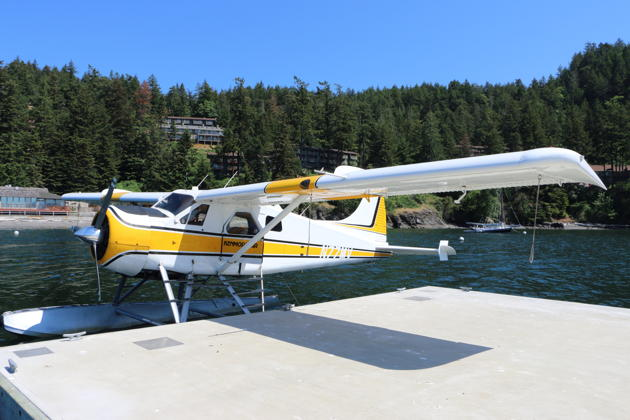 Kenmore's Beaver 77MV during our quick stop at the harbor at the Rosario Resort on Orcas Island in the San Juans.