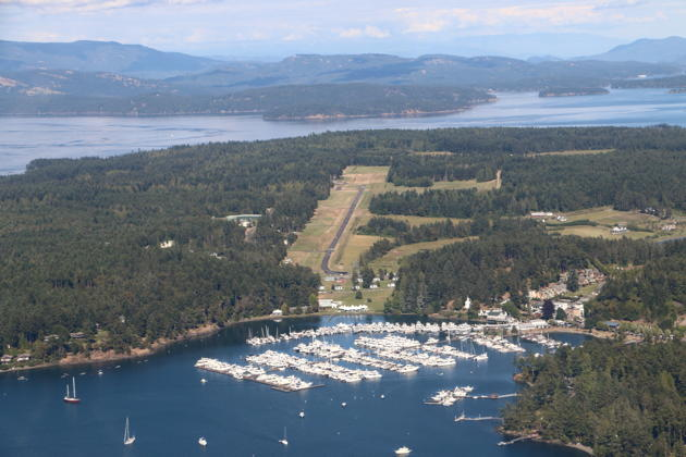The beautiful harbor and airport at Roche Harbor.