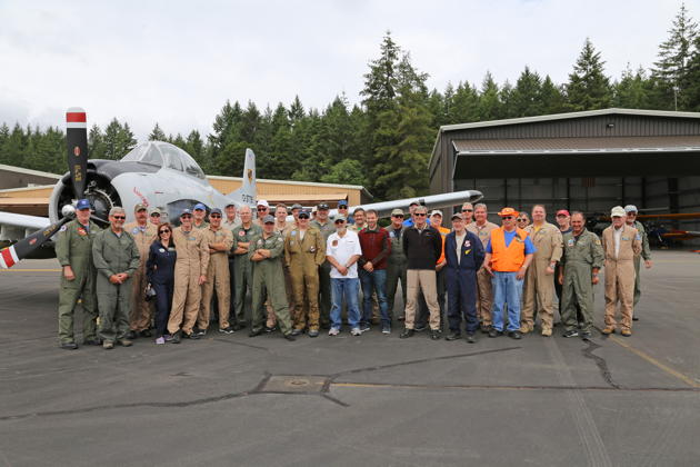 Warbird pilots gathered at Bremerton for the June formation clinic. Photo by Dan Shoemaker.