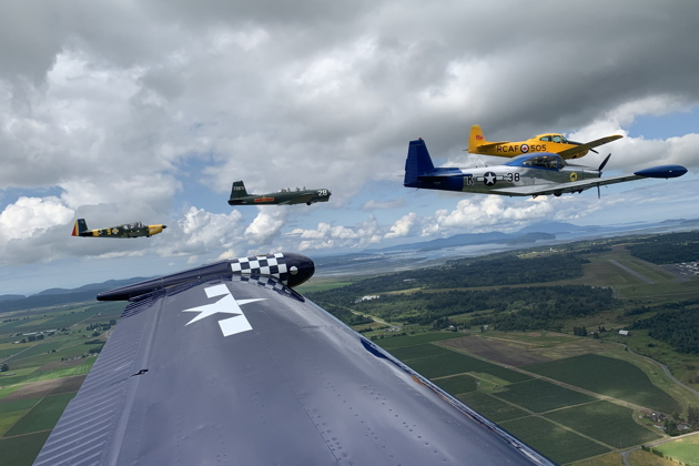 En route in the 5-ship back to the Skagit-Bayview airport. Photo courtesy of Tanner Matheny.