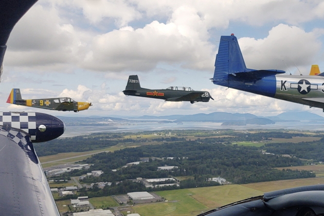 Low pass over the Skagit-Bayview airport, with the San Juan Islands in the distance. Photo courtesy of Tanner Matheny.